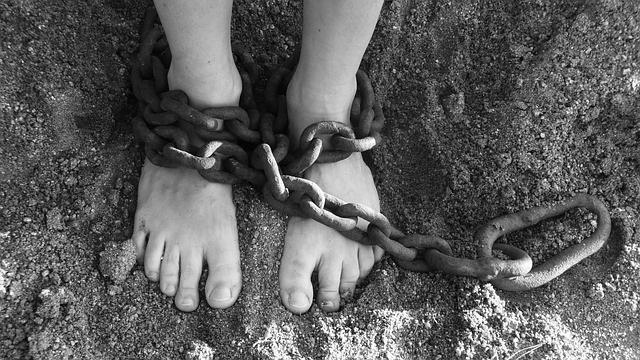 Chains Feet Bondage Prison Freedom Sand